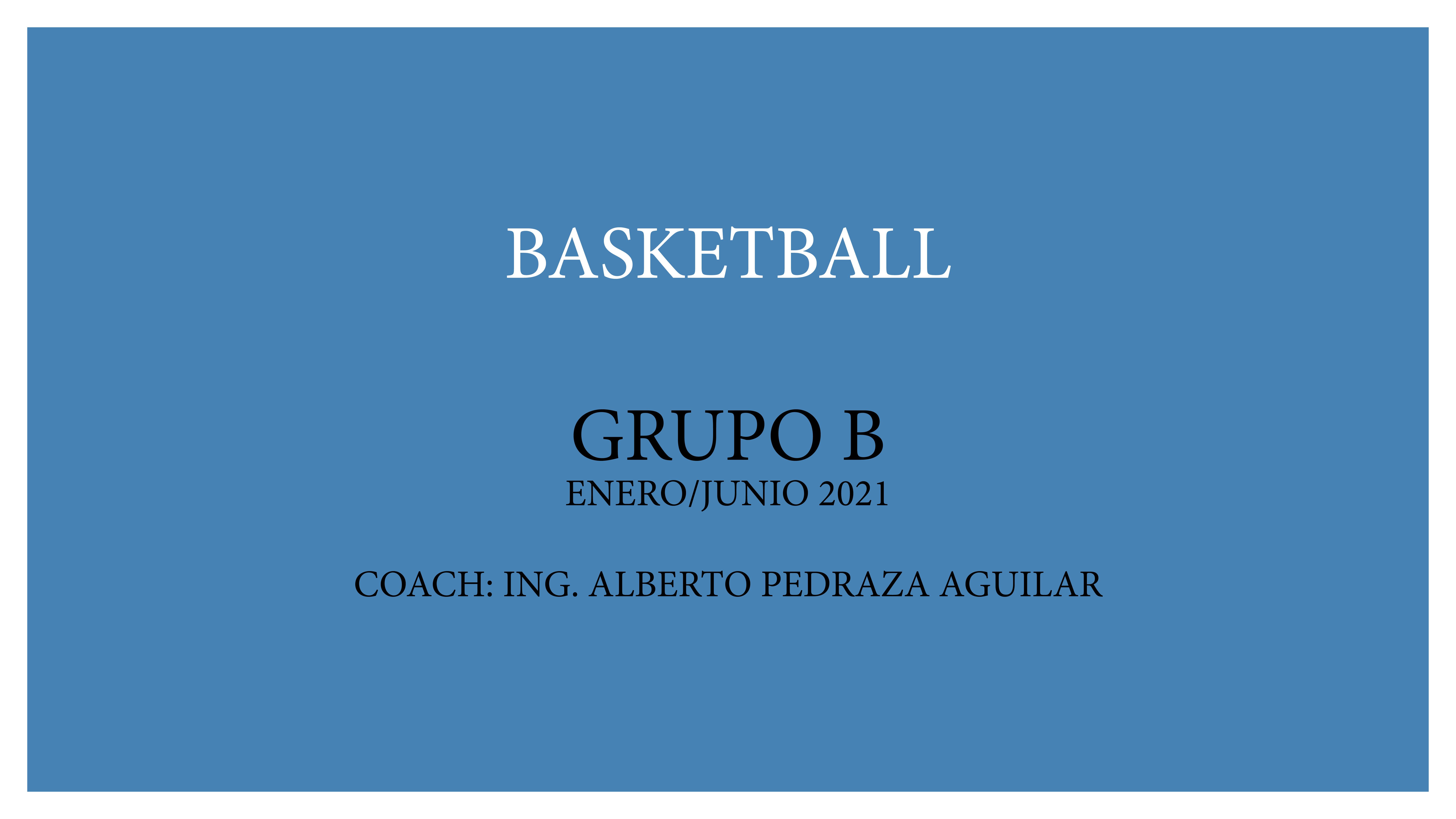 Basketball Extra escolar Grupo B